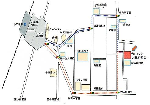 小田原教会地図001